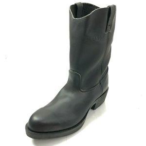 "DURANGO 12 Wide Boots Steel Toe Black Leather 11"""